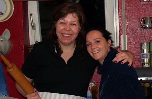 Yasmin und ich nach getaner Bäckerei