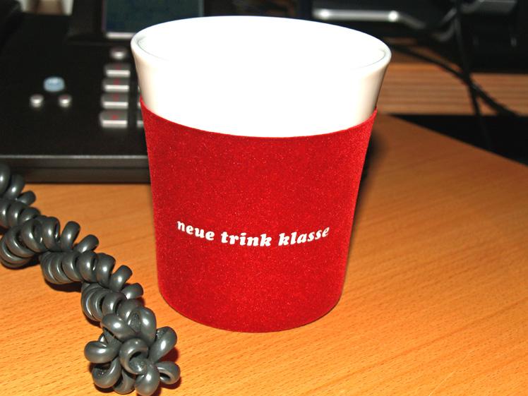 """Touch!-Tasse """"neue/trink/klasse"""""""