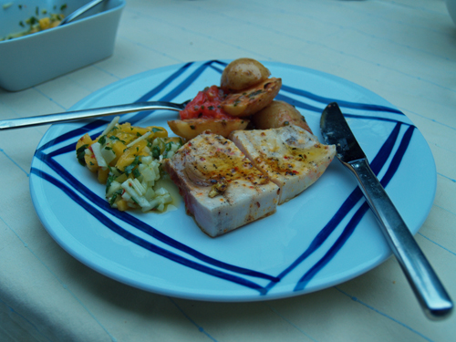 Grillen 2008 - Teil 4: Italienisch mit Frau Poletto Essen