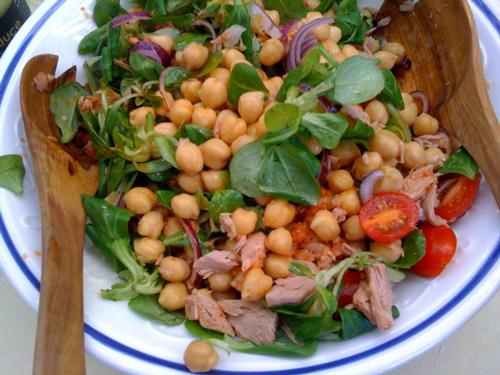 Neuer Leckerer Salat Zum Grillen Kichererbsen Thunfisch Salat