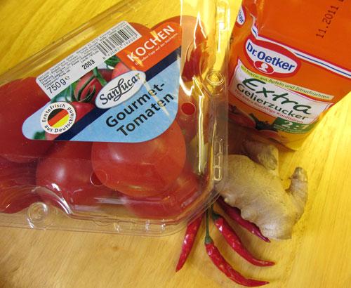 Geschenke für Genießer: Selbstgemachte Tomatenmarmelade mit Ingwer Essen