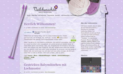 Veilchenschön Blog nun live: Hier gibt alles Schöne gestrickt und gefilzt Einkaufen