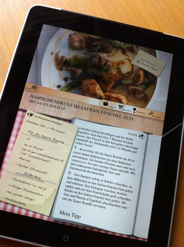 Cornelia Polettos iPad App im Test: Hähnchenbrust im Safran-Fenchel-Sud mit Sauce Rouille App