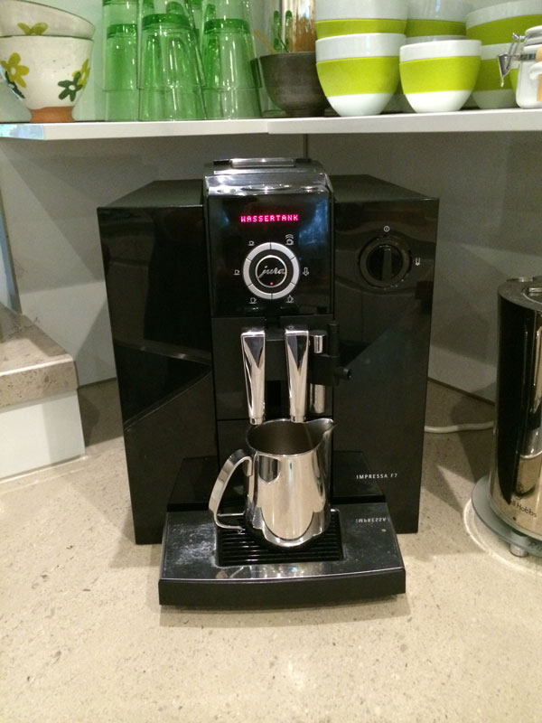 Unsere bisherige Kaffeemaschine