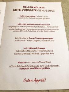 Corona-Abendessen mit Nelson Müller Genießen